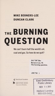 Cover of: The burning question | Mike Berners-Lee