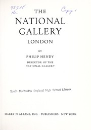 Cover of: Art treasures of the National Gallery, London