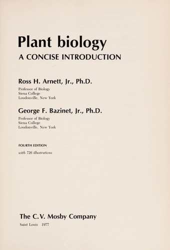 Plant biology by Ross H. Arnett