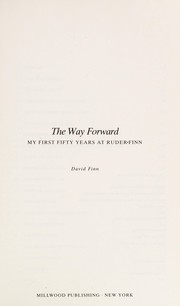 Cover of: The way forward
