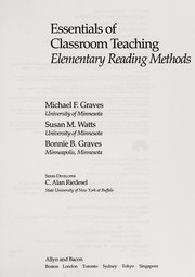 Cover of: Elementary reading methods | Michael F. Graves