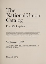 Cover of: The National Union catalog pre-1956 imprints | Library of Congress (Etats-Unis)