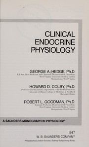 Cover of: Clinical endocrine physiology | George A. Hedge
