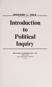 Cover of: Introduction to political inquiry | Richard L. Cole
