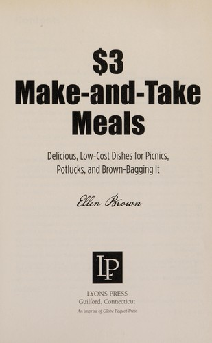 $3 make-and-take meals by Ellen Brown
