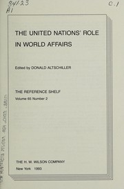 Cover of: The United Nations