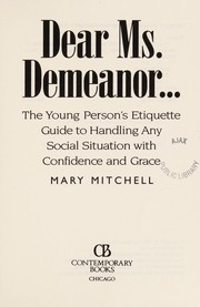 Cover of: Dear Ms. Demeanor | Mitchell, Mary