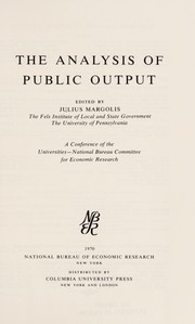 Cover of: The Analysis of public output