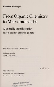 Cover of: From organic chemistry to macromolecules
