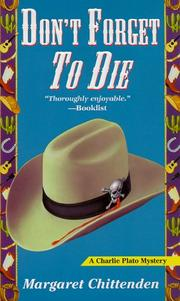 Cover of: Don't Forget to Die (A Charlie Plato Mystery)