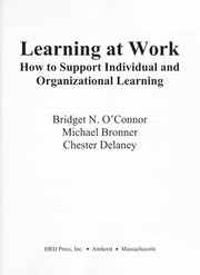 Cover of: Learning at work | Bridget N. O'Connor