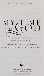 Cover of: My time with God |