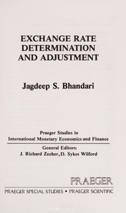Cover of: Exchange rate determination and adjustment