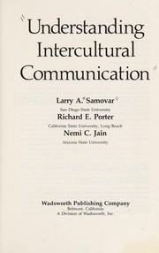 Cover of: Understanding intercultural communication | Larry A. Samovar