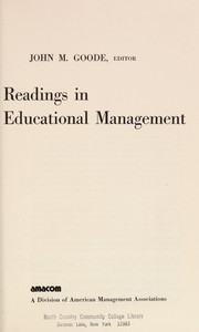 Cover of: Readings in educational management