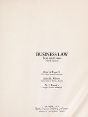 Cover of: Business law | RateA Howell