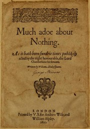 Cover of: Much Ado About Nothing