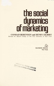 Cover of: The social dynamics of marketing |
