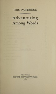 Cover of: Adventuring among words