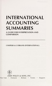 Cover of: International accounting summaries |