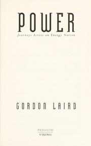Cover of: Power | Gordon Laird