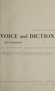 Cover of: The improvement of voice and diction