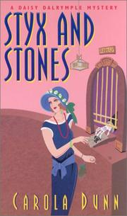Cover of: Styx And Stones: a Daisy Dalrymple mystery