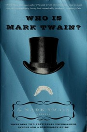 Cover of: Who is Mark Twain? | Mark Twain