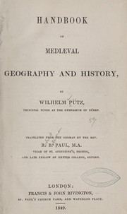 Handbook of mediæval geography and history