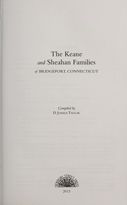 Cover of: The Keane and Sheahan families of Bridgeport, Connecticut