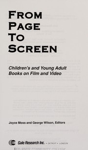 Cover of: From page to screen