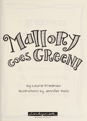 Cover of: Mallory goes green