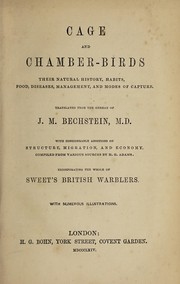 Cover of: Cage and chamber-birds | Johann Matthäus Bechstein