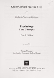 Cover of: Grade aid with practice tests for Zimbardo, Weber, and Johnson Psychology
