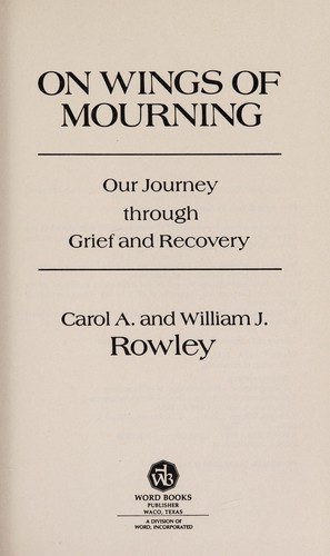 On wings of mourning by Carol A. Rowley