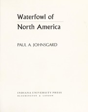 Cover of: Waterfowl of North America | Paul A. Johnsgard