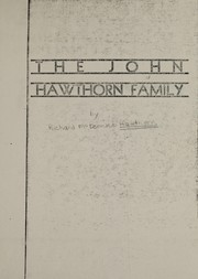 Cover of: John Hawthorn family