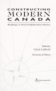 Cover of: Constructing Modern Canada | Gaffield