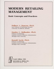 Cover of: Modern retailing management | Delbert J. Duncan