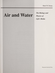 Cover of: Air and water | Mark W. Denny