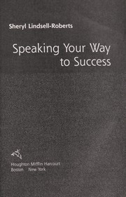 Cover of: Speaking your way to success