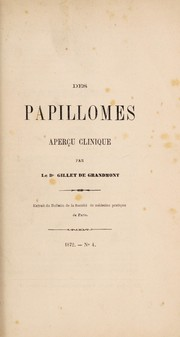 Cover of: Des papillomes