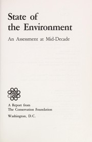Cover of: State of the environment |
