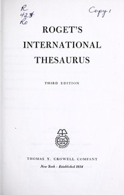 Cover of: Roget's international thesaurus