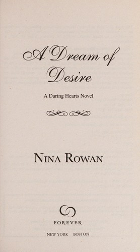 A dream of desire by Nina Rowan