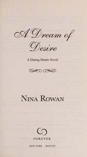 Cover of: A dream of desire | Nina Rowan