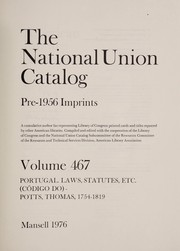 Cover of: National union catalog