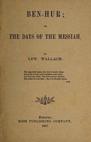 Cover of: Ben-Hur | Lew Wallace