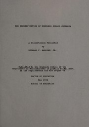 Cover of: The identification of homeless school children