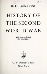 Cover of: History of the Second World War